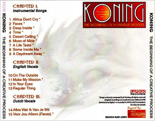 Rob Koning - The Beginning Of A Creative Process - achterkant CD hoes